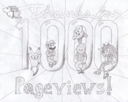 1,000 Pageviews by Yo-yoMaster