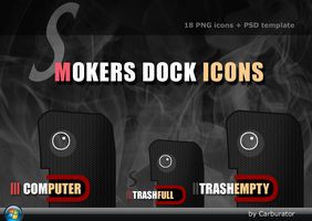 Smokers dock icons by Carburator