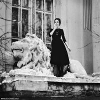 About lion and  a woman by NataliaCiobanu