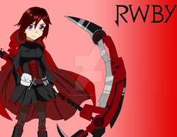 RWBY-Fan Art: Ruby Rose (Digital-Happy Halloween!) by TheRebornAce