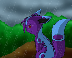 Sitting in the rain by CrispyCh0colate