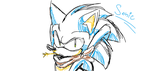 Sonic paint doodle by Kyuubi83256
