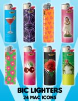 Bic Lighter Icons by princessang2644