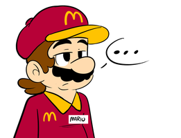 if mario works at Mcdonalds :B by raygirl12