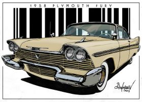 1958 Plymouth Fury by Berlioz-II