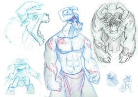 Titus Concept Sketches by TheDracoJayProduct