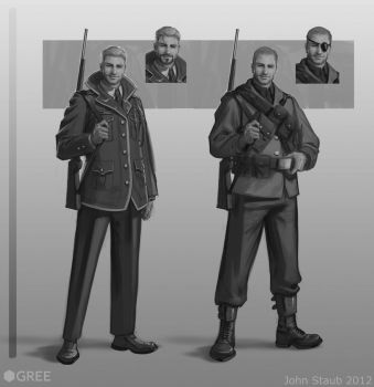 Soldier class sketches by dustsplat