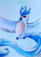 ACEO 58 - Articuno by Clopina