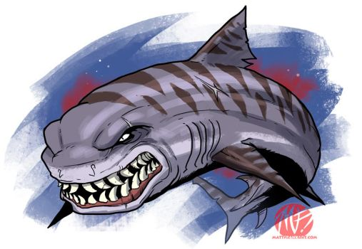 Shark Week 2012 - Tiger Shark by KaijuSamurai