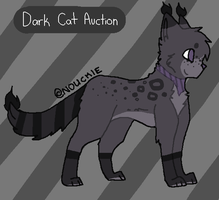Dark Cat Adoptable Auction - OPEN by catpaths