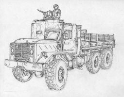 US Military vechicle in Iraq 4 by BROKENHILL