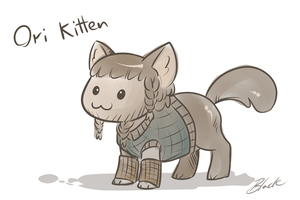 The Hobbit - Ori Kitten by caycowa