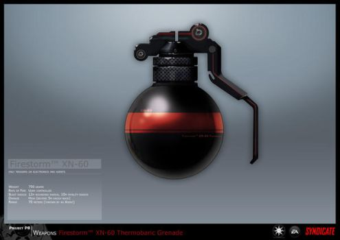 SYNDICATE concept - Grenade 2 by torvenius