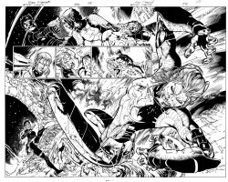 Action comics 876, Double-page by eddybarrows