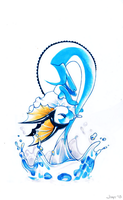 Vaporeon Splash by Jiayi