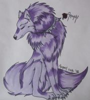 purple wolf. by Yuuvi