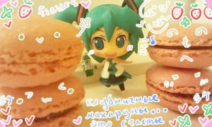 Miku macaroons by Kimulepolyglotte