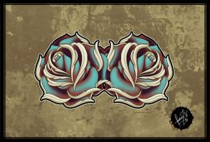 Roses - Tattoo Design by SugarSkullCandy