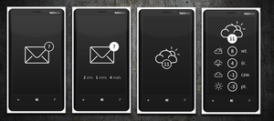 Mail/Weather App Concept for Windows Phone by michalkosecki
