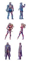 Eternal Champions Stickers by FrozenDreamer