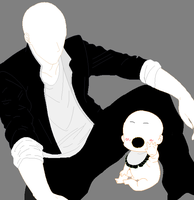 Slenderman And Babyslenderman by slenderman93
