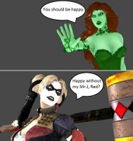 Injustice: Pamela Isley vs Harleen Quinzel by xXTrettaXx