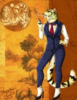 Elegant tigress :commish: by PinkScooby54