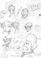All Over the Page, All Over My Head.-RandySickness by Damiapple2000