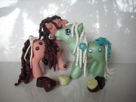 My little Pony Custom Twins by BerryMouse