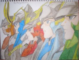 Ronin Warriors by UltravioletAngel