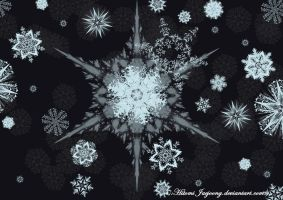 33 Pack Snowflake brushes - Photoshop by HitomiJaejoong
