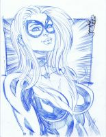 SKETCH Black Cat at megacon by thejeremydale