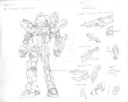Mecha Concept Modular Gear Ground Type by MasterChiefFox
