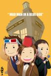 Mad Man with His Blue Box by PlainPaper
