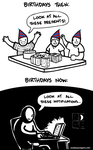 Birthdays: Then and Now by endlessorigami