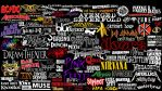 Kinda Rock Bands' logos collage by Superbrogio