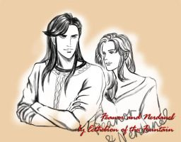 Feanor and Nerdanel by EcthelionF
