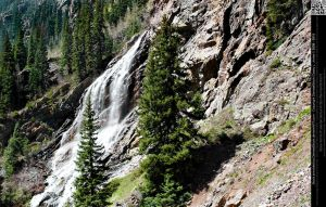 Gorgeous Side View of Waterfall by DamselStock