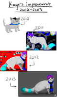 Improvement picture 2010-2013 by Billy-Bitchcakes