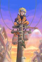 Naruto up a Pole by Risachantag