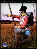 A Private of the 28th at Quatre Bras, 1815 by Tarbicus