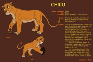 Character Sheet - CHIKU by Nichers