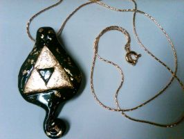 Triforce Necklace in Gold Leaf by nemuineko85