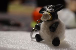 :Timmy the Sheep Keychain: by PrePAWSterous