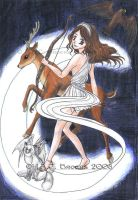 Artemis - Goddess of the hunt by Kythana