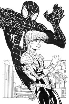 Ultimate Spidey and Pete by thejeremydale