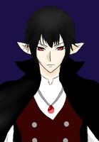 Tablet Drawing 2: Darien the Vampire! by MidnightMiku
