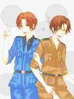 Veneziano and Romano - Hetalia by Domcia880