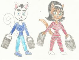 Louis and Kitty's Christmas Shopping by LouisEugenioJR