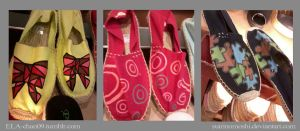 Customized/Hand-painted Espadrilles1 by suirinomoshi